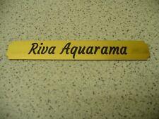 Kleines Namensschild für Modellständer  -  Riva Aquarama