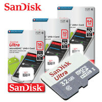 NEW SanDisk Ultra 80MB/s 16GB 32GB 64GB micro SD memory Card