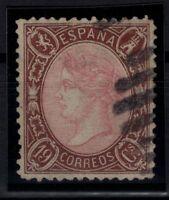 P133233/ SPAIN – ISABELLA II – EDIFIL # 77 USED – CV 3700 $