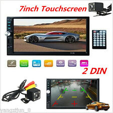 "7"" Double 2DIN Car DVD Player Bluetooth MP3/MP4/Audio/Video/USB Rearview+Camera"