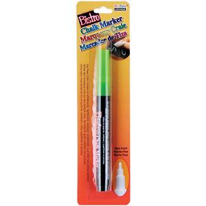 Bistro Chalk Marker Fine Point 1/Pkg-Fluorescent Green Marvy