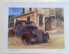 1936 Ford 5 Window Coupe Illustration 8x11 Reprint Garage Decor