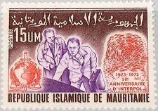 MAURITANIA MAURETANIEN 1973 464 305 50th Ann Interpol Criminal Police Org. MNH