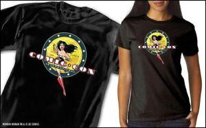 San Diego Comic Con SDCC 2016 Exclusive Wonder Woman T Shirt Large Black NIB