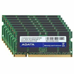 16GB 8x 2GB PC2-6400 DDR2-800MHz 200Pin 1.8V SODIMM RAM Laptop Memory For DATA