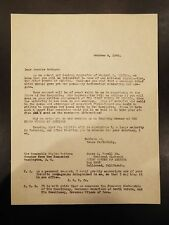 Letter addressed to Senator Bridges of New Hampshire from James C. Powell 1940