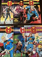 Miracleman 6 issue lot #1, #2, #3, #4, #7, #8 from Eclipse Comics and Alan Moore