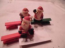 Weihnachtsdekoration, Klammer mit Nikolausen, 3 Stück