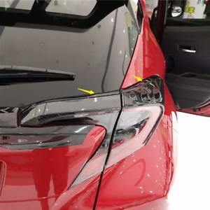For Toyota C-HR CHR Carbon Fiber ABS Rear Tail Light Lamp Cover Trim 2016-2020