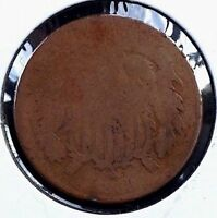 1868 Two-cent piece Bronze 2c coin