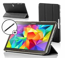 Leather Black Folding  Case Cover for Samsung Galaxy Tab S 8.4 + Stylus