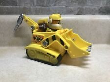 Paw Patrol Rubble Bulldozer Vehicle and Figure Preowned