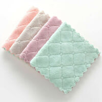Soft Nonstick Oil Coral Velvet Hanging Hand Towels Kitchen Home Dishclout