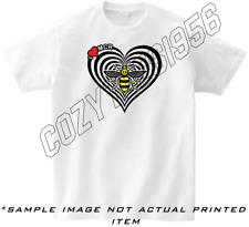 Manchester Bee Heart I Heart Repeat Mcr T Shirt Mens / Unisex