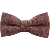 Vintage Brown Tweed / Wool Pre-Tied Mens Bow Tie. Great Quality & Reviews. UK.