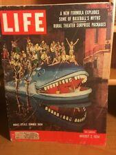 LIFE MAGAZINE- NEW FORMULA EXPLODES SOME OF BASEBALLS MYTHS - AUGUST 2, 1954