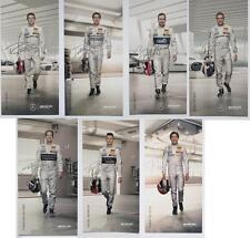 7x Mercedes DTM Autogrammkarten, Sammlerkarten: Paffett, Wehrlein, diResta
