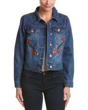 BAGATELLE Women's Embroidered Denim Button Front Jacket Size Medium NWT