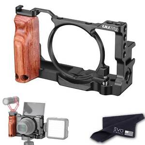 UURig Camera Cage for Sony DSC-RX100 VI/VII with Wooden Handgrip
