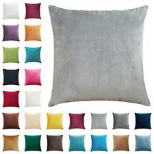"""Velvet Plain Cushion Cover Pillow Case Home Decor 16"""" 18"""" 20"""" 22"""" 24"""" 26"""" 28"""""""