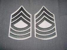 PRE 1959 USMC Master Sergeant chevron pair green on tan MINT