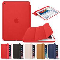 Genuine Leather Smart Flip Cover Case For iPad Pro 11 10.5 9.7 Air 234 Mini 4