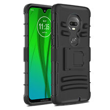 For Motorola T-Mobile REVVLRY+ Shockproof Kickstand Armor Hybrid Case Cover