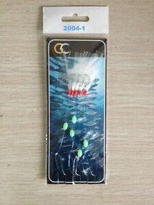 2004-1 Glitter Flasher Mackerel/Bass cod Hokkai Lures Fishing Rigs Hook Size 2