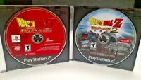 Dragonball Z Budokai 1 + 2 DBZ  - PS2 Playstation 2  Game Lot Rare Tested