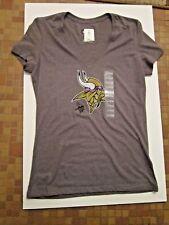 Minnesota Vikings NFL Gray Women s Size M V-Neck Tee Shirt fd8ada9b5