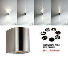 LED Outdoor Wall Light 10 W Warm White Nordlux Canto 77571034 Stainless Steel