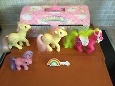 Vintage Lot My Little Pony Hasbro + Case Valise '80