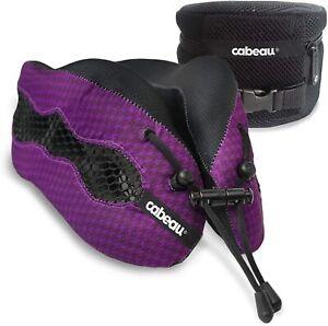 Cabeau Evolution Cool -Memory Foam Neck Pillow+ Air Vents+ Washable+ Bag, Purple