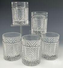New Listing5 Ralph Lauren Herringbone Bar Barware Retired Old Fashioned Whiskey Glasses Sms