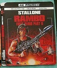 RAMBO, RAMPAGE, ROBIN HOOD, ROCKETMAN, RIVER RUNS RED 4K Blu ray slipcover