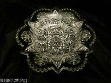 VTG~IMPERIAL OHIO GLASS COSMOS ROUND BUTTER DISH BOTTOM ONLY~STAR/FLOWER DESIGN~