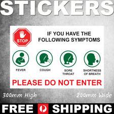 Covid Virus Health Warning Sticker Do Not Enter Sticker - SS00059