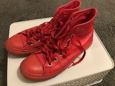 Converse Leather High Top Red Trainers Shoes Sneaker Size 4.5