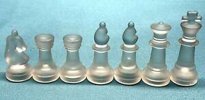 Replacement Frosted Glass Chess Piece - BISHOP ROOK KNIGHT KING QUEEN - You Pick