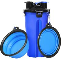 Dog Water Bottle Dog Bowls For Traveling Pet Food Container 2-In-1 With Col Y5G6