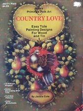 Country Love Easy Tole Painting Designs For Wood And Tin 8171 Plaid Jackie Cole