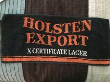 Vintage Bar Towel Holsten Export X Certificate Lager Breweriana Decor