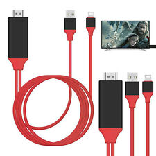 2M 8 Pin Lightning to HDMI TV AV Red Adapter Cable for iPad iPhone 5 6 6S 7 Plus