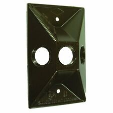 Hubbell Bell 5189-2 Three Hole Weatherproof Cover Rectangular Cluster, Bronze