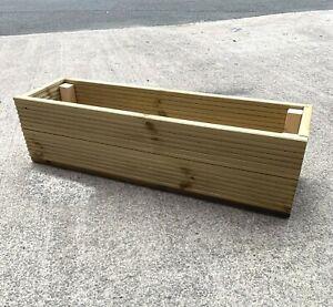 30cm-170cm Extra Large Wooden Decking Patio Planter Window Flower Box Trough Pot