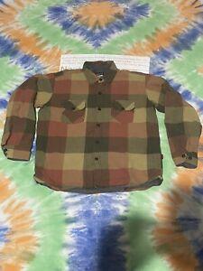 Mens Large Patagonia Flannel Lined Jacket Shirt Rare Vintage