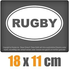 Rugby 18 x 11 cm JDM Decal Adhesive Sticker Racing Windscreen Car White