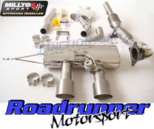 Milltek Golf R MK6 Turbo Back Exhaust & Downpipe Cat Resonated Titanium Tips