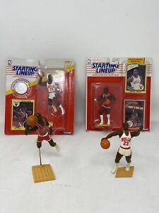 "1990 1984 Rookie 1991 Starting Lineup Michael Jordan Bulls ""JUMP"" SLU Kenner Lot"
