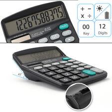 Desk Calculator 12-Digit Desktop Calculator with Standard Function Solar Large